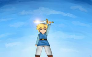 Four swords adventure - Blue Link by Dallony