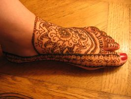 Mehndi Foot Design by Nomandy