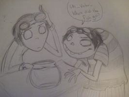 Frankenweenie fanart: Where's the fish? by kibadoglover45
