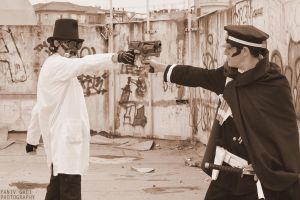 Raidou VS Steampunk by ChibaMeta
