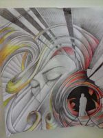 tunnel drawing surreal by DREAMandDIFFER