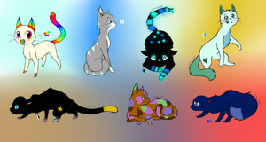 Cat Adoptables by BlossomTehKat