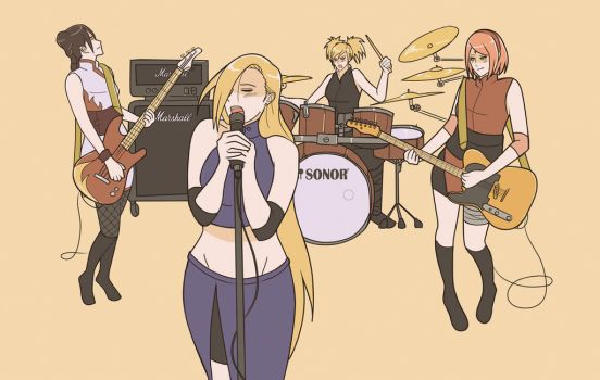 Konoha GirlBand by indy-riquez