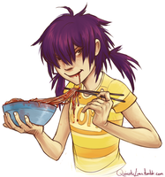 Noodle cannibal by Spartichi