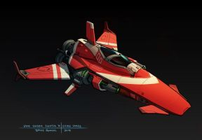 Star Swarm  - Fighter B concept by zombat