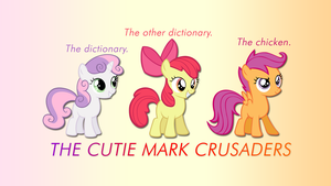 Cutie Mark Crusaders Wallpaper by apertureninja