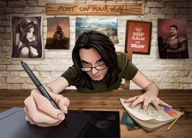 Keep calm and draw by Lukecfc