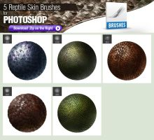 5 Photoshop Brushes for Painting Reptile Skin by pixelstains
