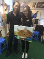 Michael Andrew Law with his student Cat by michaelandrewlaw