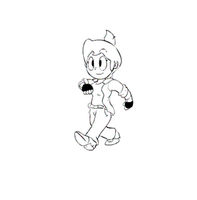 Toon walking cycle animation by drivojunior
