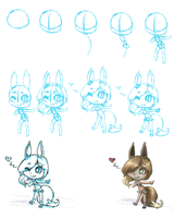Chibi Process - Malcome by kitzune-griffith