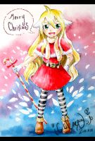 Merry Christmas -- Mavis in Christmas suit by icecream80810