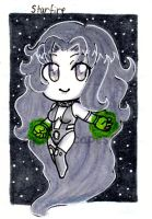 Starfire Art Trading Card by CuddlyCapes