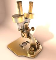 Old microscope final by 3Dapple