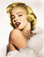 Marilyn Monroe by LuckeBjucke