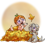 Fall Leaves Espurrs by sparkynekomi
