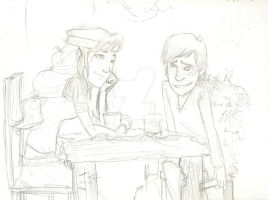 Astrid and Hiccup go on a date by Mackzene