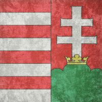 Kingdom of Hungary ~ CoA Grunge Flag (1000 - 1918) by Undevicesimus