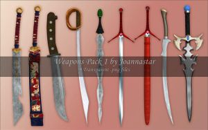 Weapons Pack 1 - Blades by joannastar-stock
