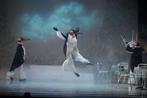 Penguin Cafe Penguin Dancers by Catzombies