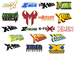 X-Men Comic Logo Icons Vol 2 by Meganubis
