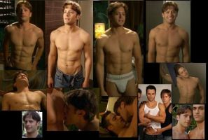 Brett Chuckerman SHIRTLESS collage by slayerxy