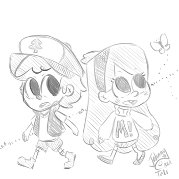 Cute Dippy and Mabel by BizarreAdventures