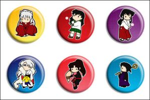 InuYasha Buttons by Maxx-V