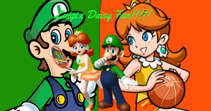 Luigi and Daisy Fan Poster by AngelMaria89