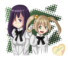 Hanako and Emi by GiftRaptor