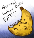Sassy Fat Banana by SilverScarecrow33