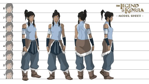 Korra - Model Sheet by samcote