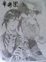 Ciel Phantomhive and Sebastian Michaelis by Len-Lover-02