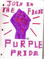 Purple Pride Join In The Fight by mushroom564