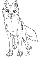 Smiling Wolf ::free lineart:: by CrossHound213