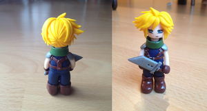 Cloud Strife polymer clay by Shey3977