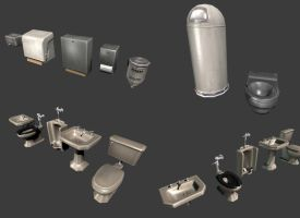 bathroom props by mikemars