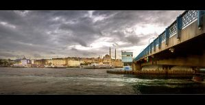 On the Galata Bridge by mutos
