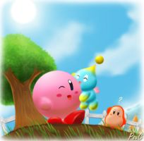 Kirby and a... chao? by PsuC