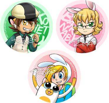 Buttons 2011: Kotetsu Barnaby Fionna and Cake by rinacat
