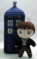 The Second Doctor Cross Stitch Doll by rhaben