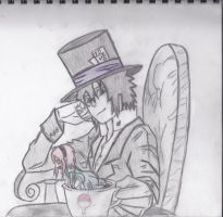 The Hatter and His Princess (with color) by xXxSakura-UchihaxXx