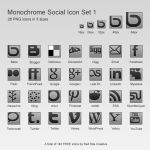 Offset Monochrome Social Icons Set 1 by coloradodev