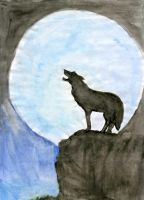 Wolf in the Moonlight by Hatters-Workshop