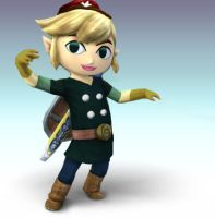 Tracks Toon Link by Wolfgerlion
