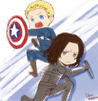 CA2 - Steve and Bucky by yoruven