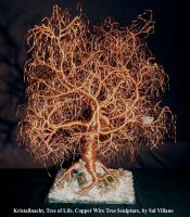Kristallnacht, Tree of Life, wire tree sculpture by SalVillano