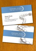 Pearl Jewelry Business Card Template by danbradster