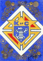 ACEO Knights of Columbus by rachaelm5