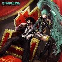 Otaku King and Miku by orochi-spawn